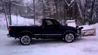 s10 snow plowing and f150 and my gmc