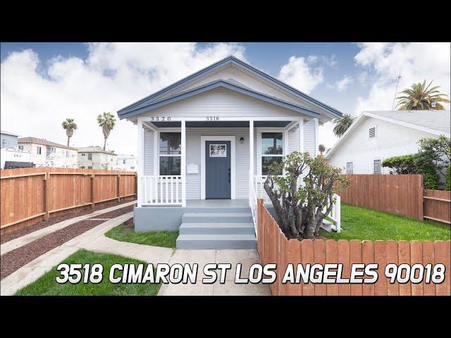 [Virtual Tour] 3518 Cimaron st Los Angeles 90018 CA