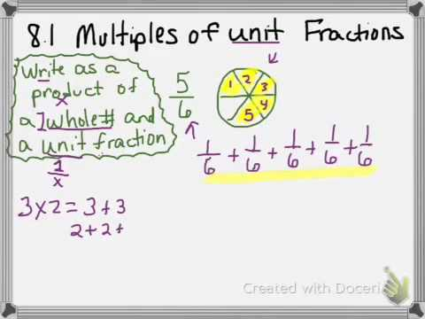 math worksheet : 8 1 multiples of unit fractions  youtube : Multiples Of Fractions Worksheet