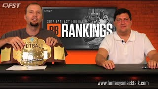 2017 Fantasy Football Running Back RB Tiers and Rankings