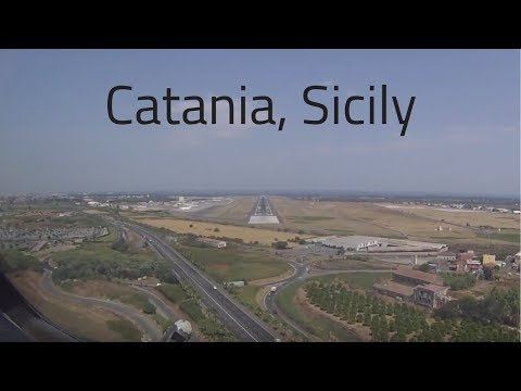 HD Flight Deck Boeing 757 Arrival Catania, Sicily