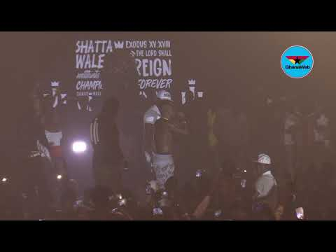 Shatta Wale replies Sarkodie at 'Reign' concert