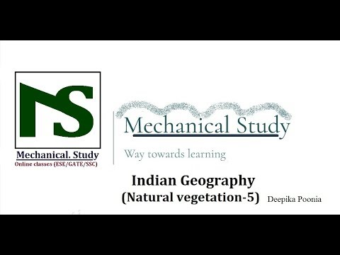 RRB/SSC JE-Indian Geography (Natural Vegetation/प्राकृतिक वनस्पति of India-5)