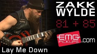 "Zakk Wylde plays ""Lay me Down"" on EMGtv"