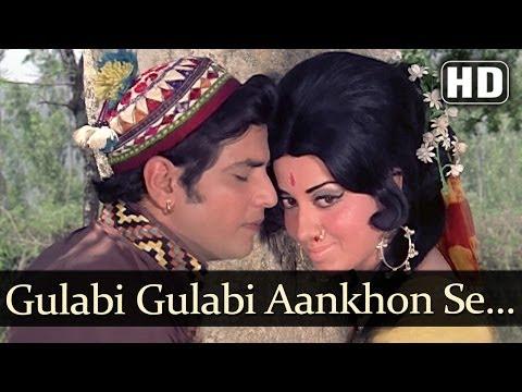Gulabi Gulabi Aankhon Se- Jeetendra - Babita - Banphool -  Mohd. Rafi Romantic Song