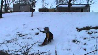Jonah Snowboard Over Fence