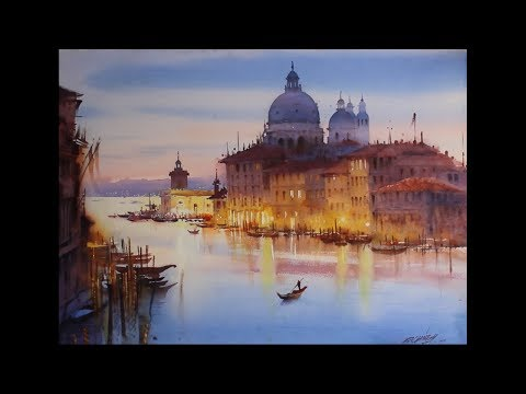 watercolour landscape painting | Beauty Of Venice | Ganesh Hire | Watercolour Painting Tutorial