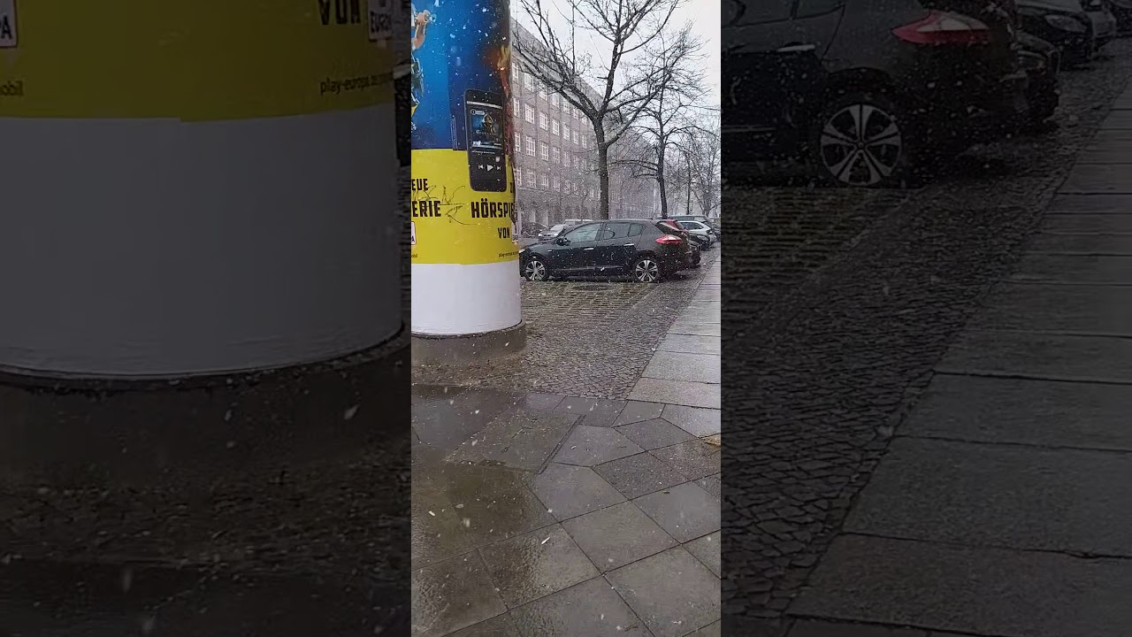 Snow in Berlin 🇩🇪❄❄🌨dëborë në Berlin ❄