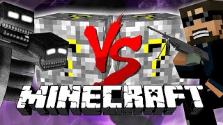 Minecraft: COBBLESTONE LUCKY BLOCK CHALLENGE | Triple Wither Bosses!