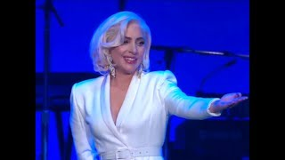 Lady Gaga Performing At Hurricane Relief Concert Video