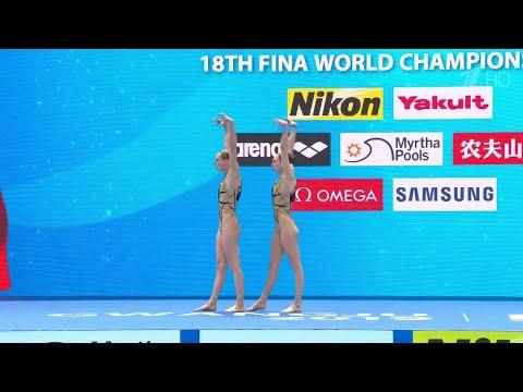 Светлана Ромашина и Светлана Колесниченко взяли золото в произвольной программе дуэтов.