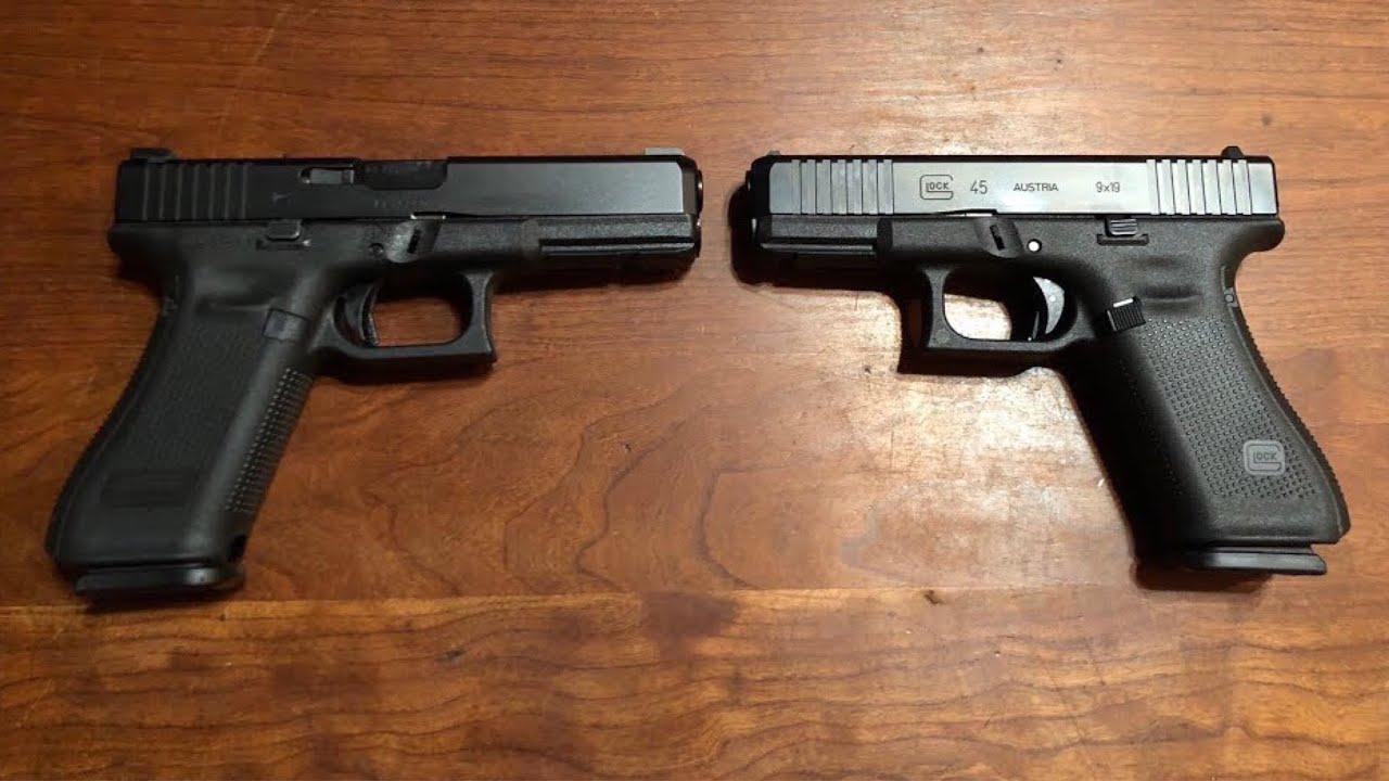 glock 45 vs glock 17 gen 5 youtube