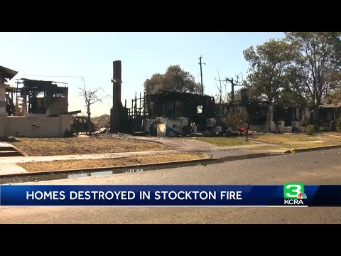 Homes destroyed in Stockton grass fire