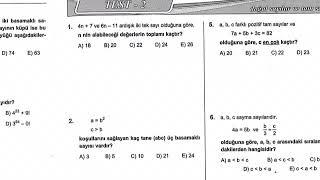 Karekök tam sayılar doğal sayılar test 2