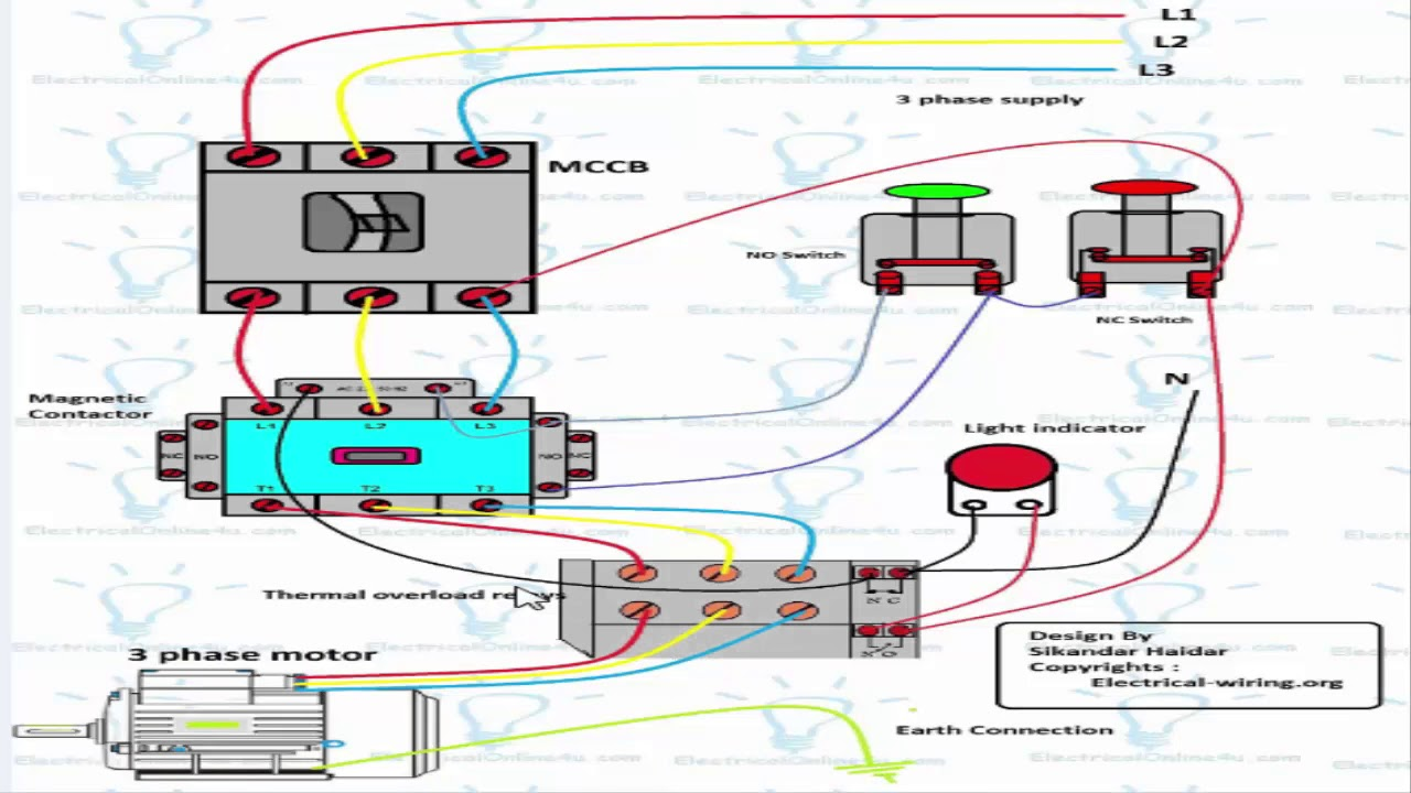 Motor 3 Phase Wiring Diagram Diagram Base Website Wiring