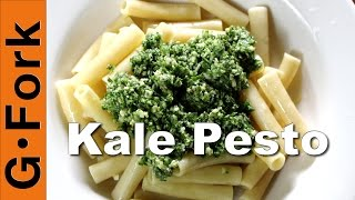Kale Pesto Pasta Recipe - Gardenfork.tv