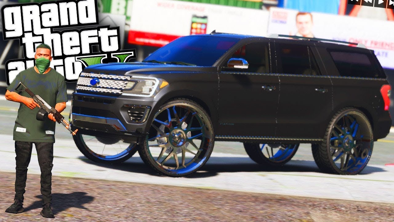 Ford Expedition on 28s & Wheelman Job! - GTA 5 Real Hood Life 2 - Day 2 - YouTube