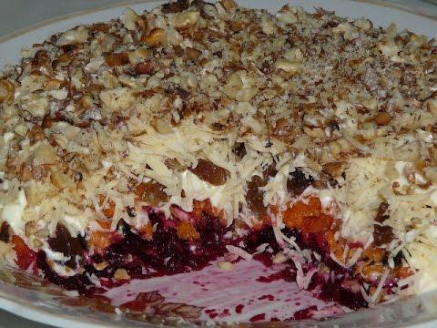 Слоеный салат Магдалена 👍 Салаты рецепты на праздничный стол.Salad