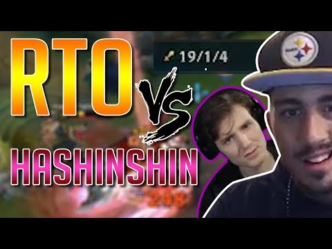RTO VS HASHINSHIN | Super Top CHADSHINSHIN | High Elo Ranked Gameplay