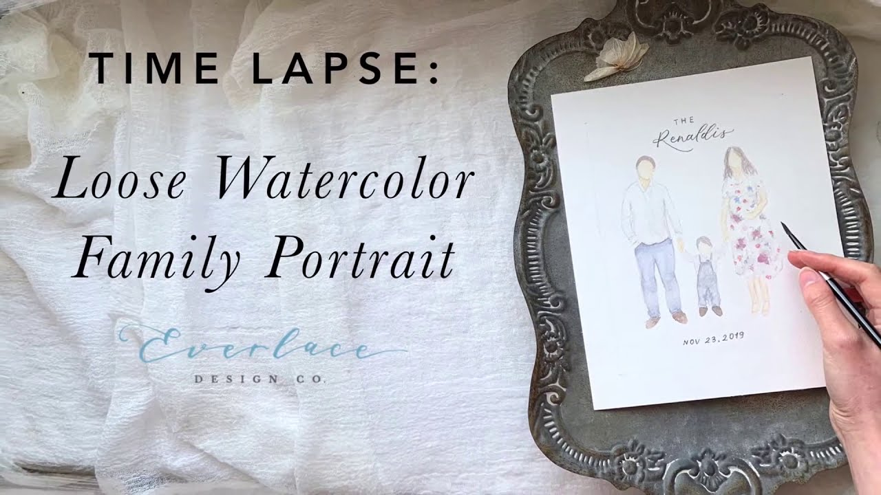 PROCESS VIDEO: Loose Watercolor Family Portrait