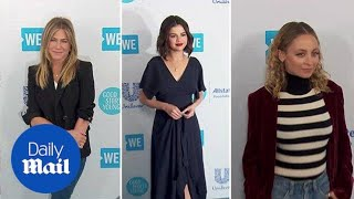 Selena Gomez and Jennifer Aniston arrive  in style at WE Day - Daily Mail