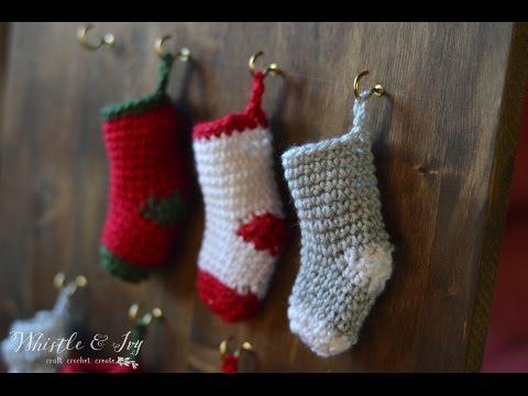 How to make a Crochet Mini Stocking