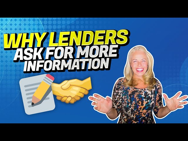 Why Mortgage Lenders Will Ask You For More Information Before Being Pre-Approved For a Mortgage 🏡