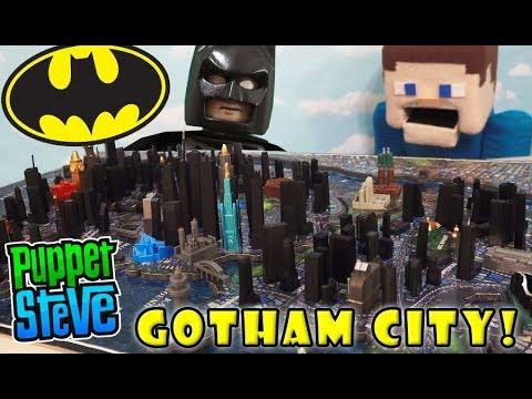 LEGO Batman Gotham City DC Comics 4D Puzzle Scape Toy Puppet Steve Cityscape Unboxing