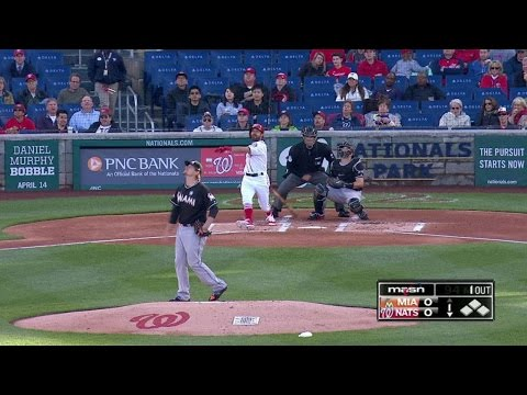 MIA@WSH: Eaton hits first home run with the Nationals