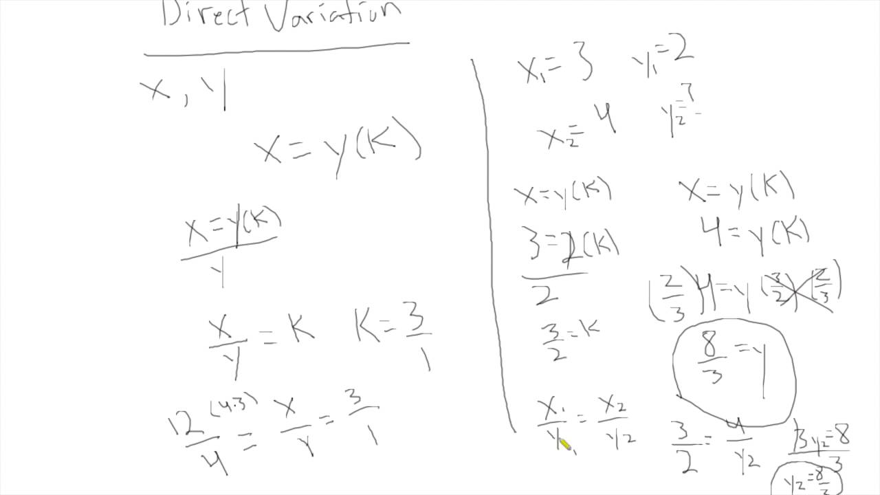How To Solve Direct and Inverse Variation Problems On The