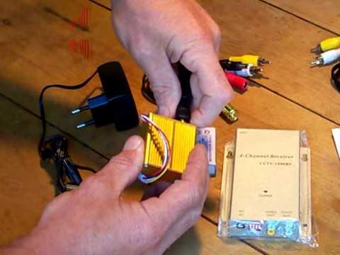 Комплект для видео наблюдения приемник/передатчик 300 м