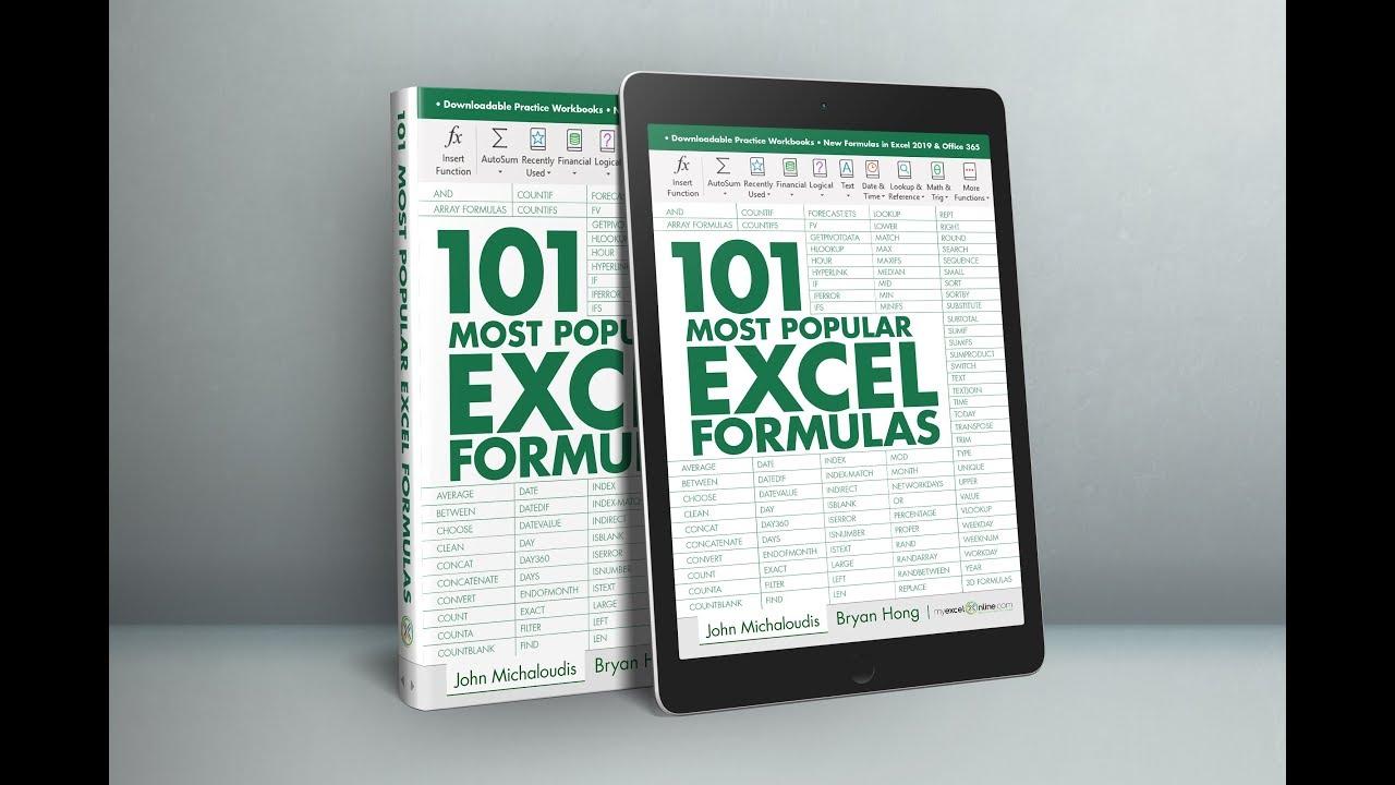 20 Most Popular Excel Formulas & Functions