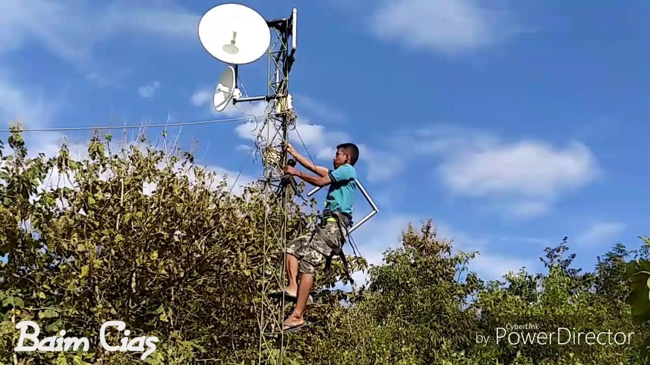 Proses Pemasangan Antena Wireless Ubiquiti RocketDish M5 Sebagai Acces Point