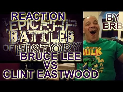 ERB Bruce Lee vs Clint Eastwood Epic Rap Battles REACTION