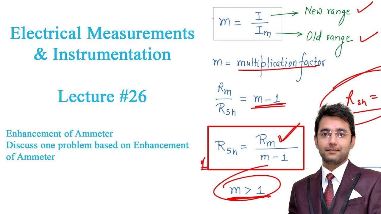 electrical measurements lecture 26 enhancement of ammeter [ 1280 x 720 Pixel ]
