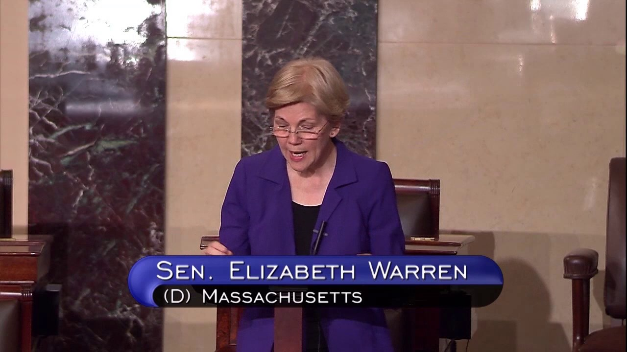 Senator Elizabeth Warren: Floor speech on 21st Century Cures Act