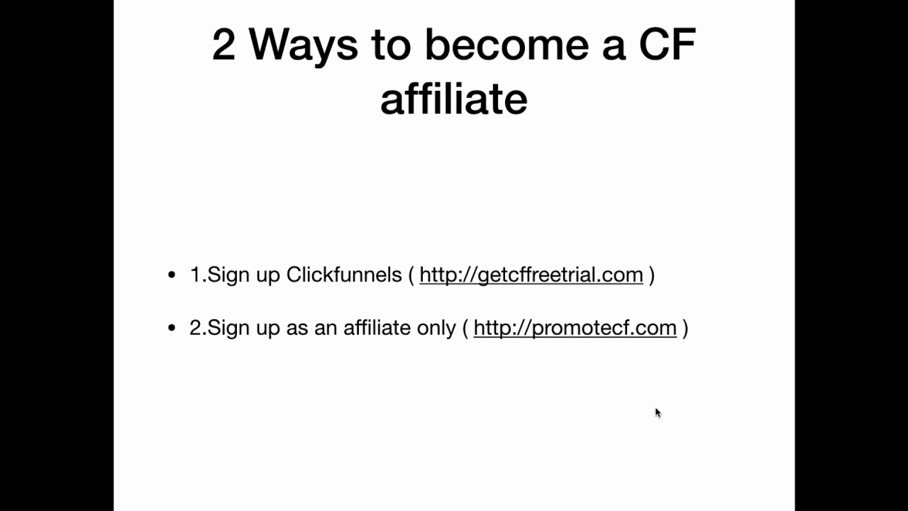 Clickfunnels Affiliate Sign Up - How To Become An Affiliate For Free