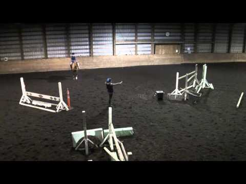 Ren meter 10 curved approach to jumps lesson