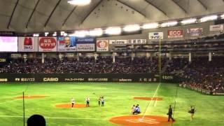 日米野球2 始球式 王貞治 ケネディ駐日米大使 青木宣親 デーブ・ウィンフィールド