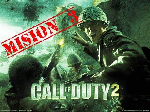 """Call of Duty 2 - CAMPAÑA (Misión 3) - """"Repara el Cable"""" - En Español"""