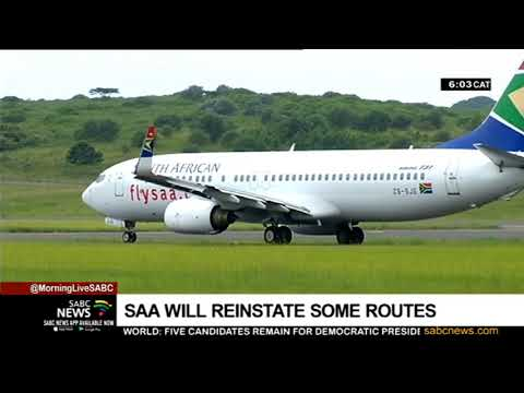 SAA to reinstate some routes