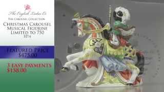 Christmas Carousel Musical Figurine by English Ladies Company