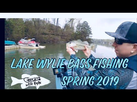 Lake Wylie Spring Time Bass Fishing 2019