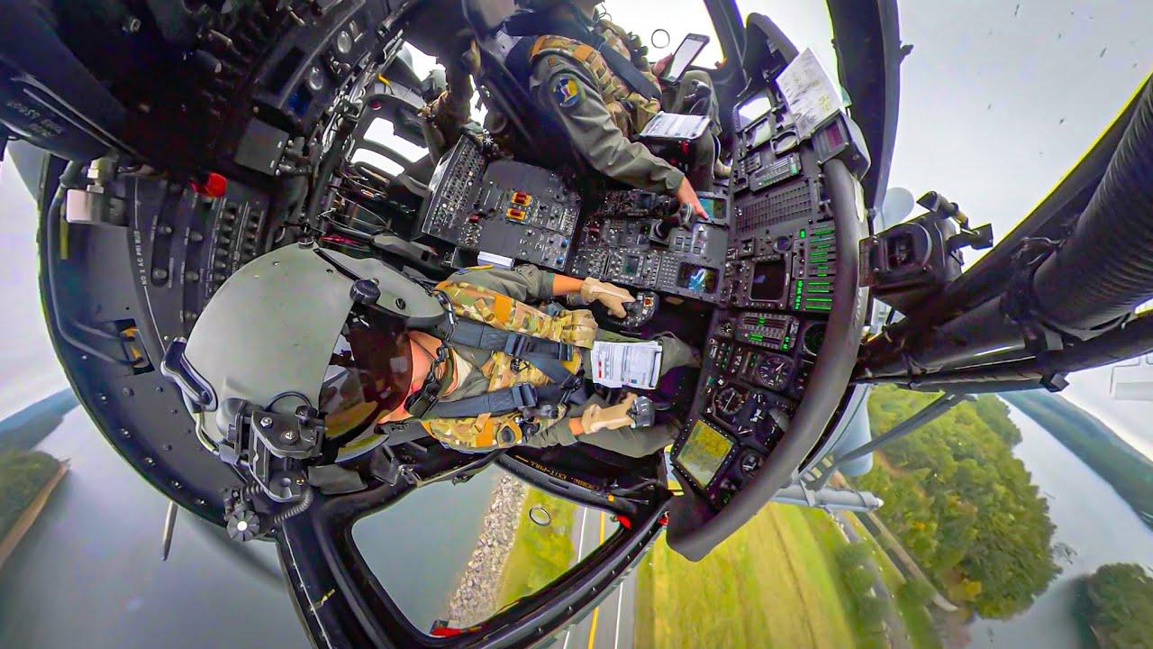 Pave Hawk Extreme Low Level - Insta360 X Cockpit View
