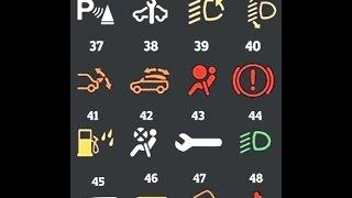 Значения иконок на приборной панели автомобиля часть 3