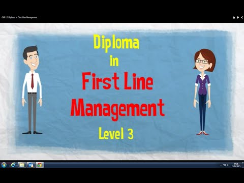 CMI L3 Diploma in First Line Management