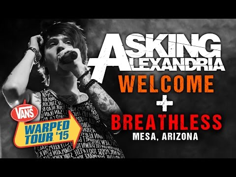 "Asking Alexandria  - ""Welcome"" & ""Breathless"" (with Denis Stoff) LIVE! Vans Warped Tour 2015"