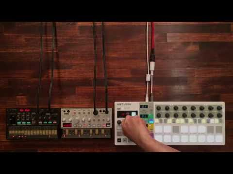 Arturia BeatStep Pro #3 | Create Melody Part with KORG volca bass & volca fm