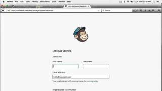 Shopify Email Newsletter Sign Up Form Part 1: Setting up a MailChimp Account