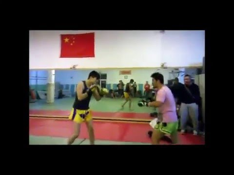 An Amateur challenged the coach of a martial arts club in Beijing